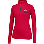Scarlet & Gray Women's Ohio State Buckeyes Scarlet Get Going Quarter-Zip Top