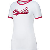 Scarlet & Gray Women's Ohio State Buckeyes White Make a Move T-Shirt