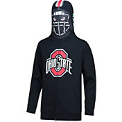 Scarlet & Gray Youth Ohio State Buckeyes Football Masked Black Hoodie