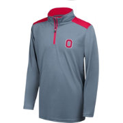 Scarlet & Gray Youth Ohio State Buckeyes Gray/Scarlet Quarter-Zip Top