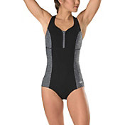 Speedo Women's Texture Touchback Swimsuit
