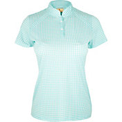 Sport Haley Women's Gingham Print Golf Polo