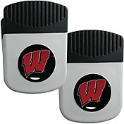 Wisconsin Badgers Chip Clip Magnet and Bottle Opener 2 Pack