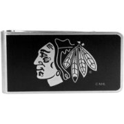Chicago Blackhawks Black and Steel Money Clip