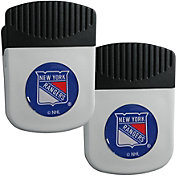 New York Rangers Chip Clip Magnet and Bottle Opener 2 Pack
