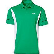 Slazenger Men's Contender Mixed Media Colorblock Golf Polo
