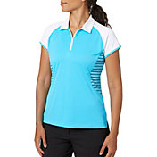 Slazenger Women's City Lights Collection Mesh Stripe Golf Polo