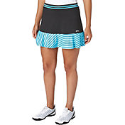Slazenger Women's City Lights Collection Knit Printed Mesh Ruffle Golf Skort