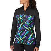 Slazenger Women's City Lights Collection Printed Quarter Zip Golf Jacket