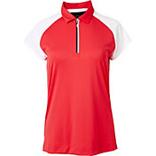 Slazenger Women's Structure Collection Racerback Mesh Cap Sleeve Golf Polo