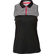 Slazenger Women's Structure Collection Stripe Printed Racerback Sleeveless Golf Polo