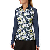 Slazenger Women's Grey Matter Collection Tech Printed 1/4 Zip