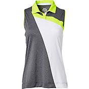 Slazenger Women's Triad Collection Block Stripe Sleeveless Golf Polo