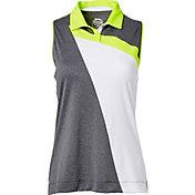 Slazenger Women's Triad Collection Block Stripe Sleeveless Golf Polo