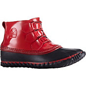 SOREL Women's Out N About Patent Leather Rain Boots