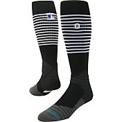 Stance MLB Diamond Pro On-Field Striped Black and White Tube Sock
