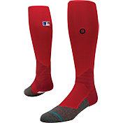 Stance MLB Diamond Pro On-Field Red Tube Sock