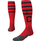 Stance Cleveland Indians Diamond Pro On-Field Red Tube Socks