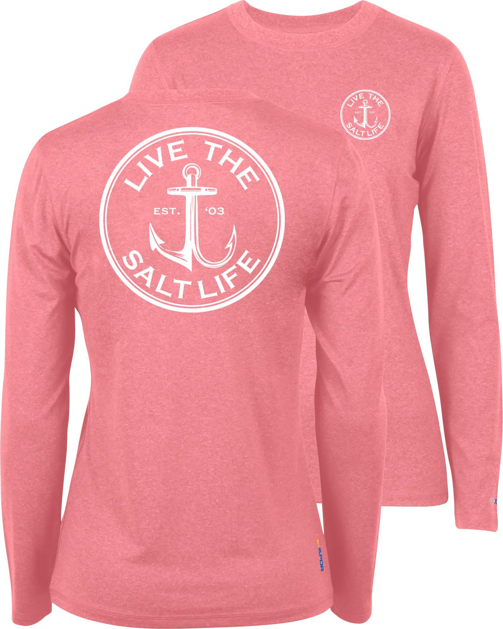 Pink long sleeve shirt womens custom shirt for Women s fishing t shirts