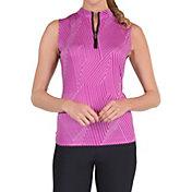 Tail Women's Blaze Printed Mini Zip Sleeveless Golf Polo