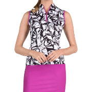 Tail Women's Leaflet Printed Sleeveless Golf Top