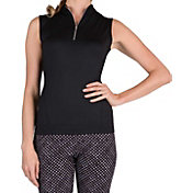 Tail Women's Mini Mock Neck Sleeveless Golf Polo