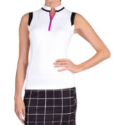 Tail Women's Notched Mini Neck Sleeveless Golf Top