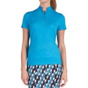 Tail Women's Notched Mini Mock Neck Golf Top