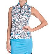 Tail Women's Vine Printed Sleeveless Golf Polo