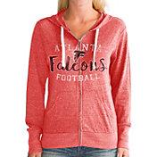 Touch by Alyssa Milano Women's Atlanta Falcons Tri-Blend Full-Zip Red Hoodie