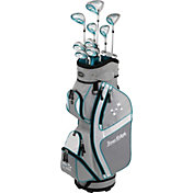 Tour Edge Women's Lady Edge 16-Piece Complete Set w/ Stand Bag – Silver/Teal