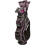 Tour Edge Women's Moda Silk 17-Piece Complete Set – Black/Hot Pink