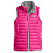 The North Face Girls' Reversible Mossbud Swirl Insulated Vest - Past Season