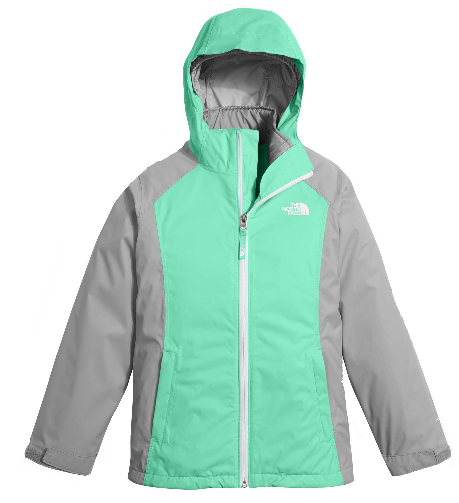 3-in-1 girls winter ski coat. Glacier fleece liner; with advanced weather protection that's removable and anti-pipping. Two side-pockets that are lined with fleece to keep hands warm.