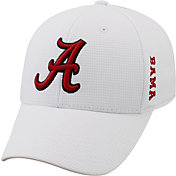 Top of the World Men's Alabama Crimson Tide White Booster Plus 1Fit Flex Hat