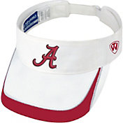 Top of the World Men's Alabama Crimson Tide White Teed Off Visor