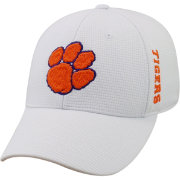 Top of the World Men's Clemson Tigers White Booster Plus 1Fit Flex Hat