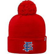 Top of the World Men's Fresno State Bulldogs Cardinal Pom Knit Beanie