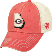 Top of the World Men's Georgia Bulldogs Red/White United Adjustable Snapback Hat