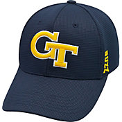 Top of the World Men's Georgia Tech Yellow Jackets Navy Booster Plus 1Fit Flex Hat