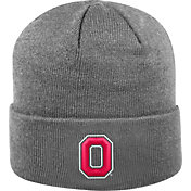 OSU Men's Ohio State Buckeyes Gray Cuff Knit Beanie