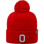 OSU Men's Ohio State Buckeyes Scarlet Pom Knit Beanie