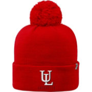 Top of the World Men's Louisiana-Lafayette Ragin' Cajuns Red Pom Knit Beanie