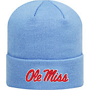 Top of the World Men's Ole Miss Rebels Blue Cuff Knit Beanie