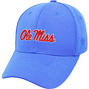 Top of the World Men's Ole Miss Rebels Light Blue Premium Collection M-Fit Hat