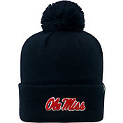 Top of the World Men's Ole Miss Rebels Blue Pom Knit Beanie