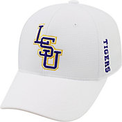 Top of the World Men's LSU Tigers White Booster Plus 1Fit Flex Hat