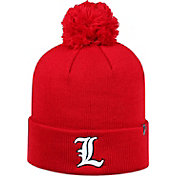 Top of the World Men's Louisville Cardinals Cardinal Red Pom Knit Beanie
