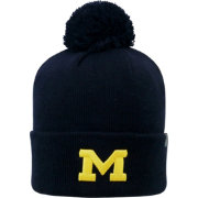 Top of the World Men's Michigan Wolverines Blue Pom Knit Beanie