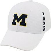 Top of the World Men's Michigan Wolverines White Booster Plus 1Fit Flex Hat